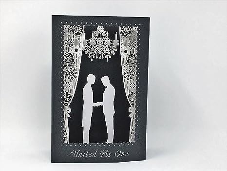 Amazon.com: Pop Up Tarjeta, 3d Gay boda, tarjeta de ...