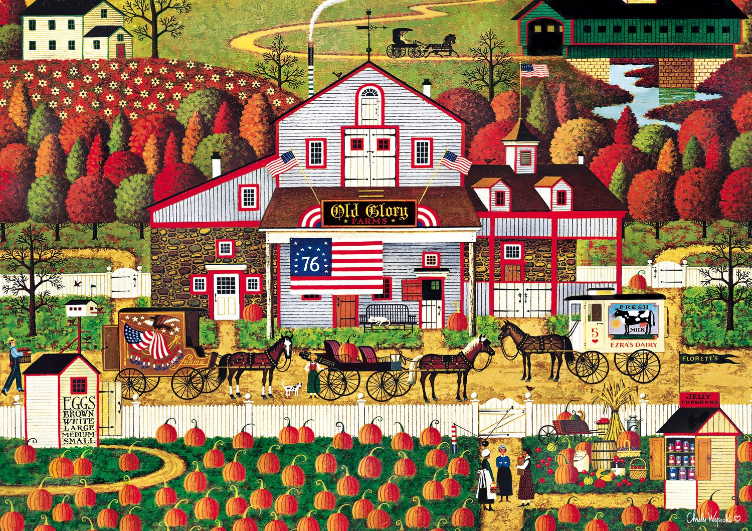 Buffalo Games - Charles Wysocki - Autumn Farms - 500 Piece Jigsaw Puzzle
