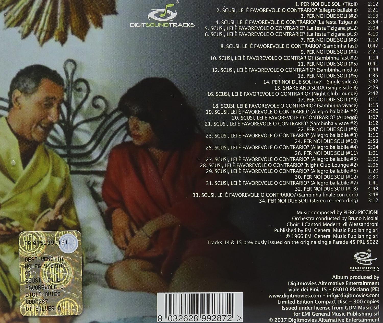 SCUSI LEI E FAVOREVOLE O CONTRARIO O.S.T. - Scusi, Lei è Favorevole O  Contrario? (Original Motion Picture Soundtrack ...