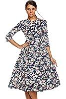 Fanala Women 3/4 Sleeve 50s Vintage Dress Plus Size (US Stock)