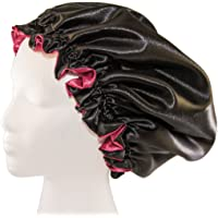 "(X-Large, BURGUNDY) New 24"" Handmade Fully Reversible Luxuries Pure Satin Hair Bonnet Safe For All Hair Types - Most Beneficial Hair care Product Available - Royal Bonnet"