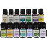 Top 15 Essential Oil Starter Set Singles Gift Pack 100% Pure Therapeutic Grade Essential Oils - Great for Aromatherapy