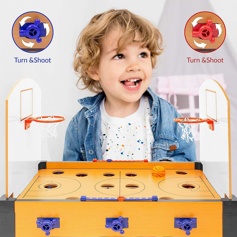 einfache Einrichtung Global Gizmos 55669 Basketball Tischspiel tragbar Multiplayer-Modus