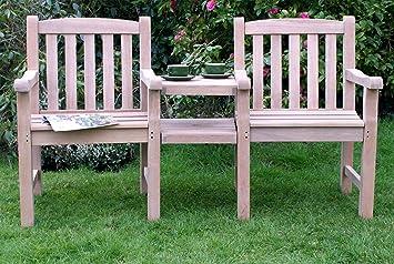 GFA The Mayfair 2 places en bois épais Table- Banc de jardin avec ...