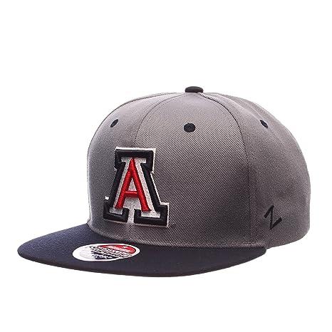 8b6c90631aa Amazon.com   ZHATS NCAA Arizona Wildcats Men s Z11 Slate Snapback ...