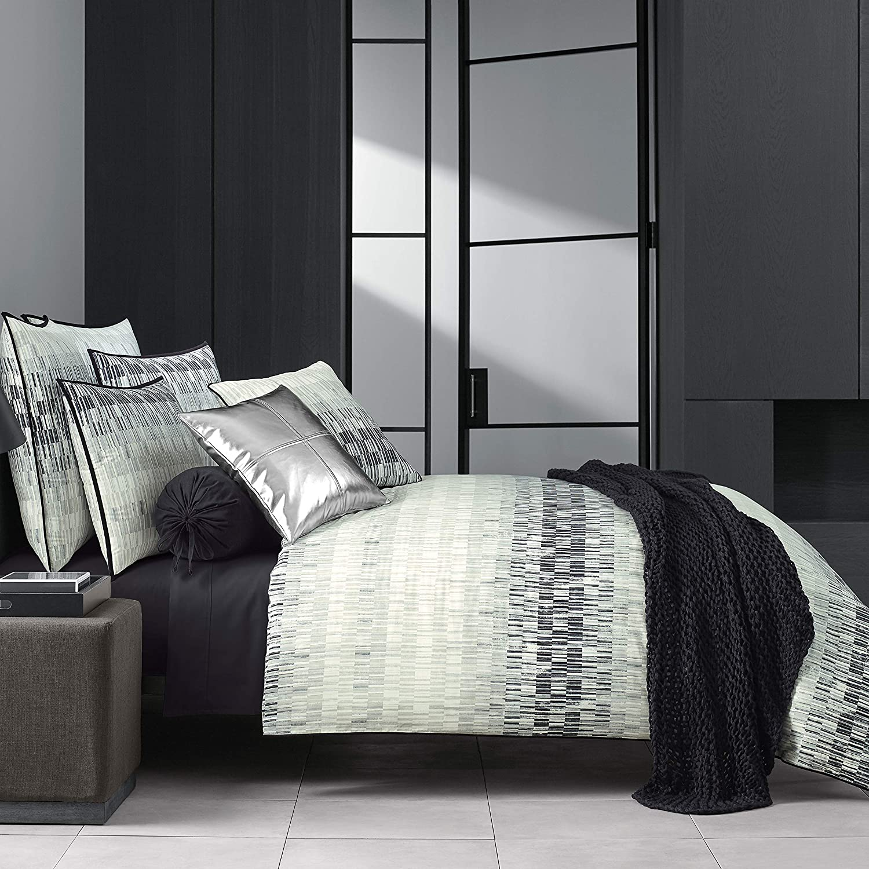 Full//Queen 98x90 Five Queens Court Fulton Duvet Cover 100/% Twill Cotton Black