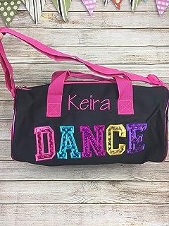 d13ed450722a Amazon.com : FEESHOW Girls Ballerina Ruffles Ballet Dance Duffle Bag ...