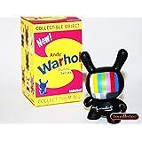 Black TV Kidrobot Andy Warhol Dunny Vinyl Mini-Figures