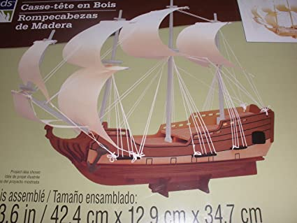 Amazon.com: Rompecabezas de madera tridimensional – Sailing ...