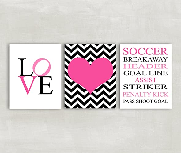 Awesome Soccer Wall Art For Girls Soccer Room Decor Set Of 3 Prints   Soccer Rules  Wall