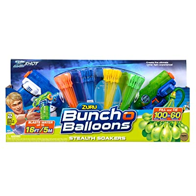 Bunch O Balloons Water Balloons 2 Stealth Soakers + 4 Promo Pack: Toys & Games