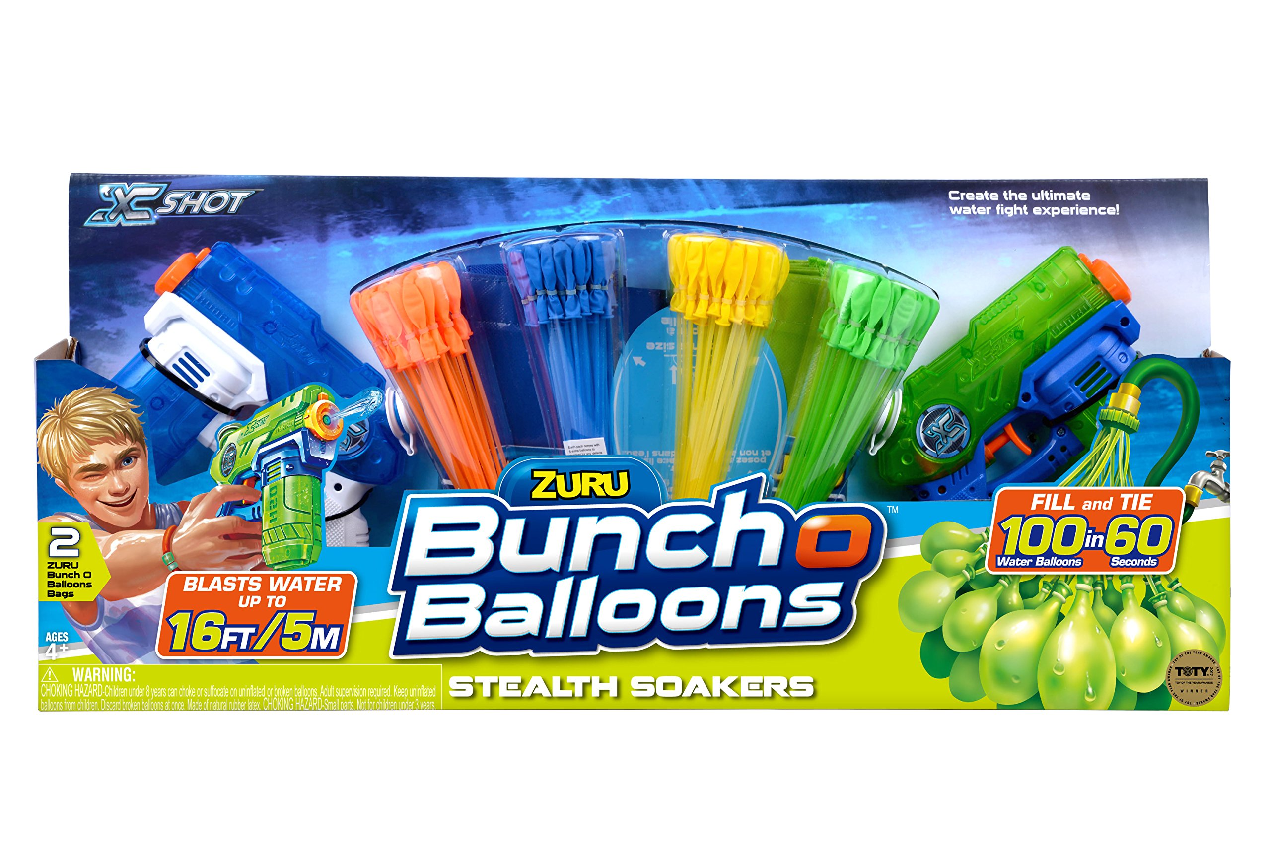 Bunch O Balloons Water Balloons 2 Stealth Soakers + 4 Promo Pack by Bunch O Balloons