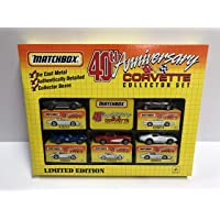 $28 » 40th anniversary Matchbox Corvette Collector Set diecast 1/64 scale Corvette's 1962 1964 1974 1977 1987