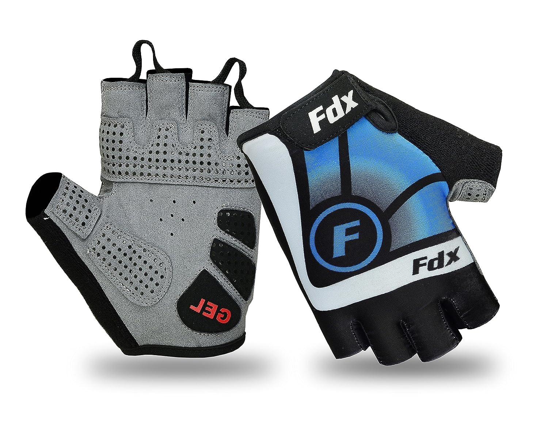 FDX New Cycling Gloves Bike Half Finger Gel Padded Fingerless Outdoor Bike Mitts FDX-3350