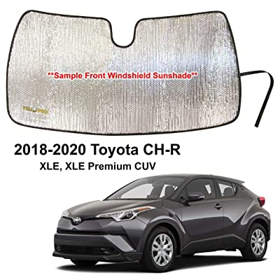 YelloPro Auto Custom Fit Car Front Windshield Reflective Sunshade Protector for 2020 2020 2020 Toyota CH-R CHR XLE Premium CUV, Sun Shade Accessories, Made in USA: Automotive
