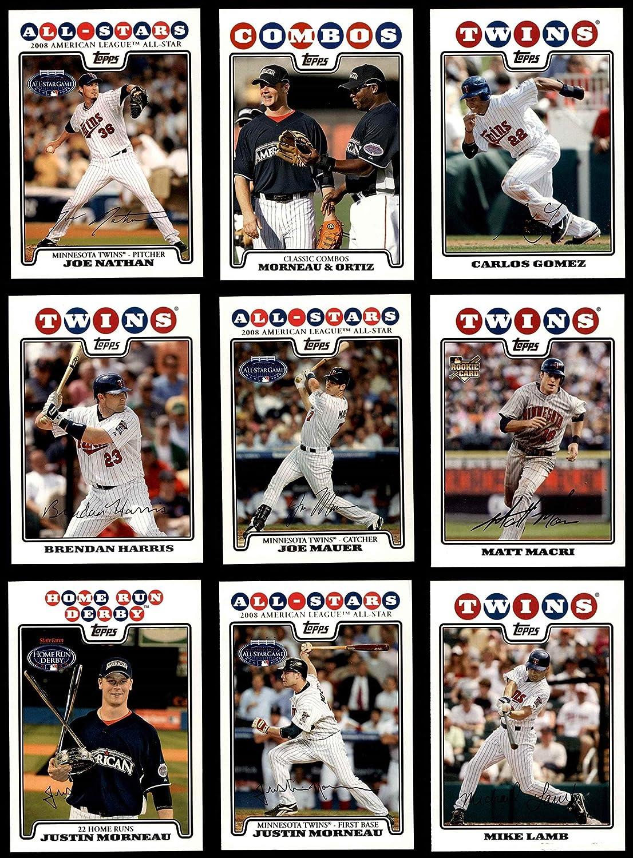 2008 Topps Update Minnesota Twins Team Set Minnesota Twins (Baseball Set) Dean's Cards 8 - NM/MT Twins 91Ek0YOToGL