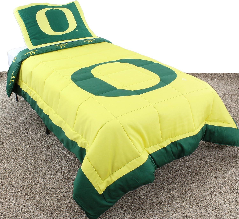 College Covers Oregon Ducks Reversible Comforter Set Queen Home Kitchen