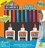 Elmer's Glue Deluxe Slime Starter Kit, Clear School Glue & Glitter Glue Pens, 12 Count