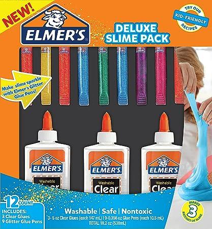 Amazon elmers glue deluxe slime starter kit clear school elmers glue deluxe slime starter kit clear school glue glitter glue pens 12 ccuart Gallery