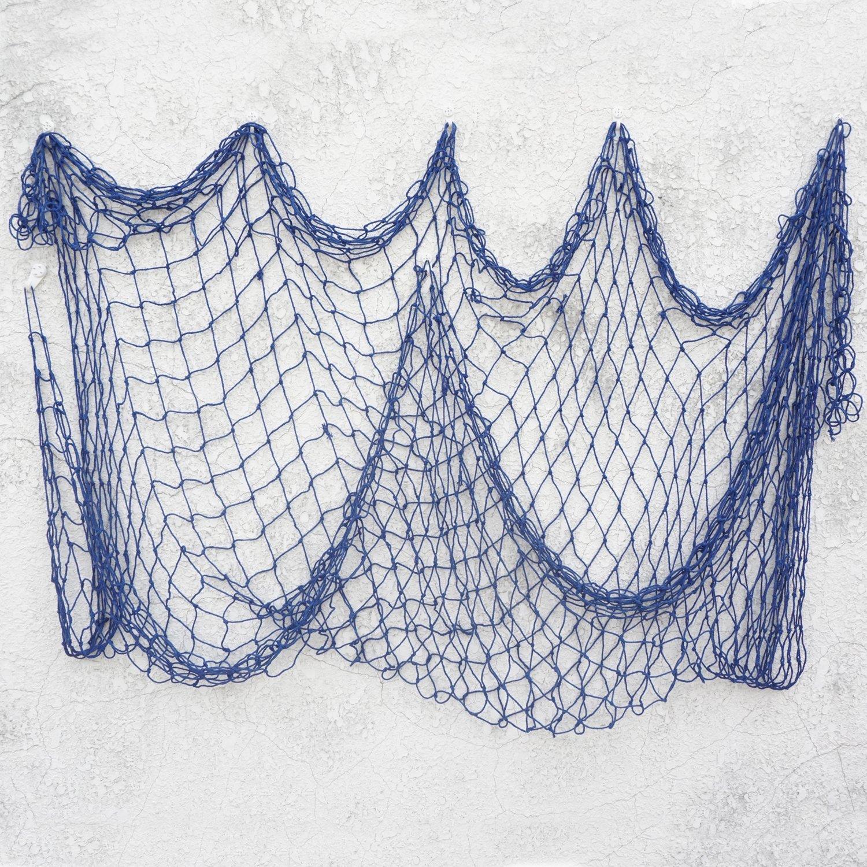 Bilipala Decorative Fish Netting, Fishing Net Decor, Ocean Pirate Beach Theme Party Decorations, Mediterranean Decor, Blue by Bilipala