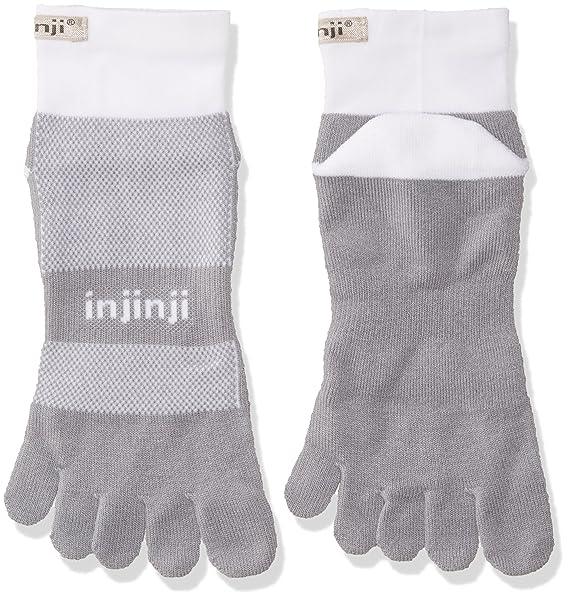 Injinji Run Mini Crew - Calcetines para Midweight Black Grey, primavera/verano, Hombre, color gris, tamaño L (47-50) EU: Amazon.es: Deportes y aire libre