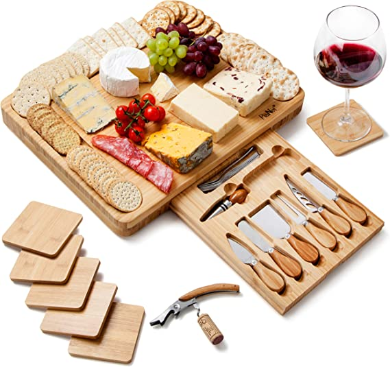 36 Inch Cheese Board with optional engraving CHERRY Large Wooden Serving Platter