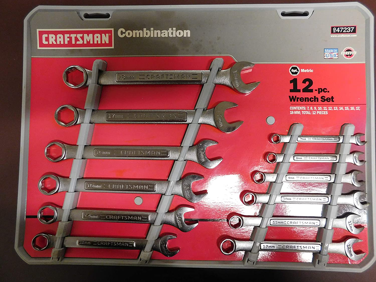 Craftsman SAE 12pt Combination Wrench Standard Open Box Wrenches Hand Tools
