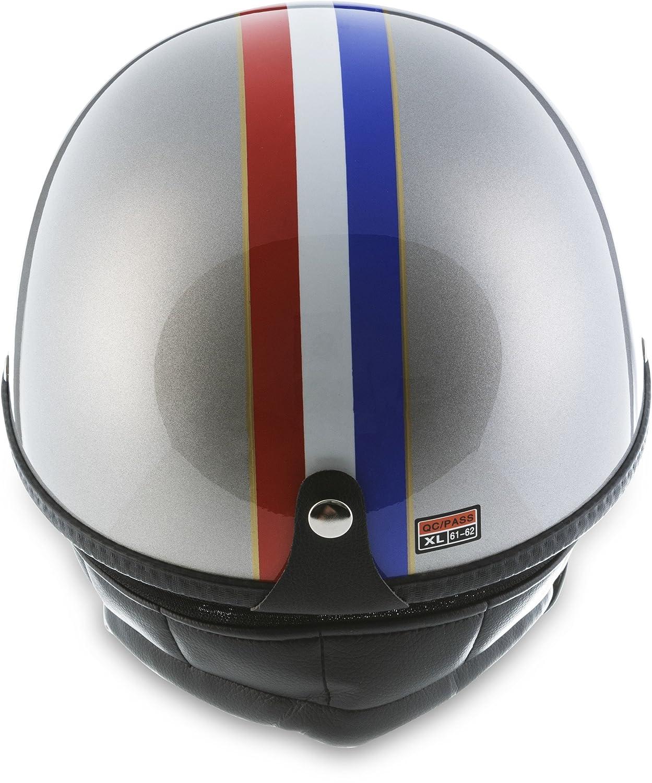avec housse en plastique et lunettes de pilote incluses Moto Helmets Set D22/France Casque de moto Vespa Bobber style vintage bol