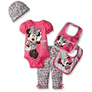 Disney Baby Minnie Mouse 5 Piece Layette Box Set, Pink, 0-6 Months