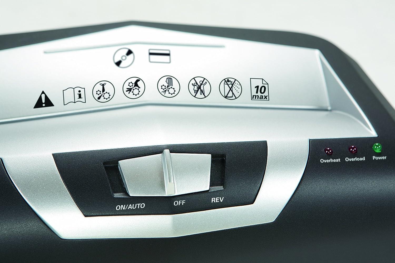 10 Blatt mit CD-Schredder Sicherheitsstufe P-2 Streifenschnitt HSM shredstar S10 Aktenvernichter