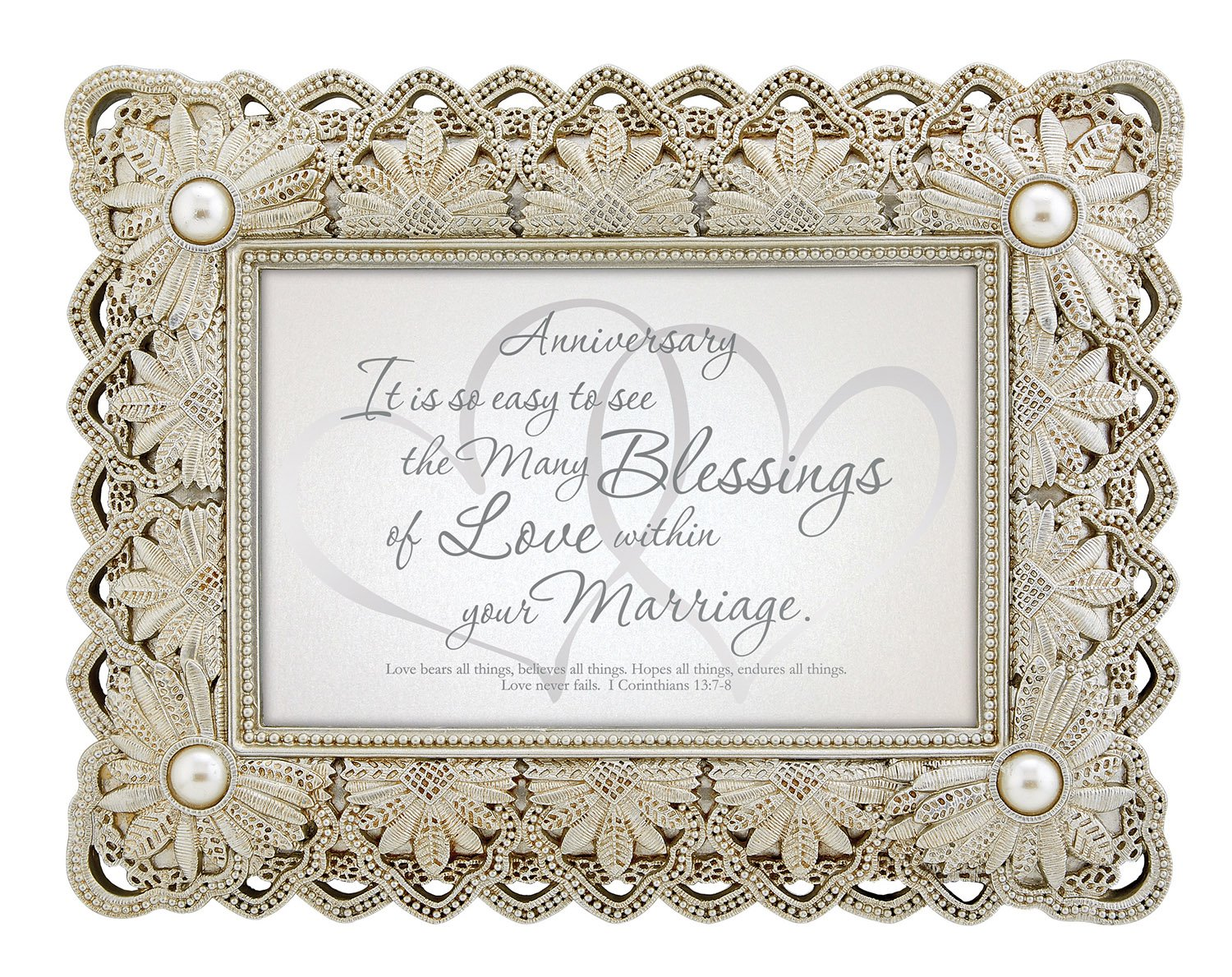CB Gift Heartfelt Collection 25th Anniversary Framed Tabletop Gift YS343