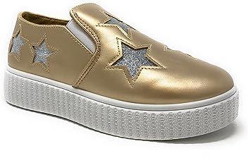 1c588246b1 Pink Label Women s Slip-On Stylish Fashion Sneaker with Glitter Stars