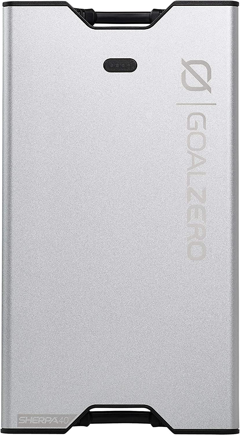 Goal Zero Sherpa 40 12000 mAh Power Bank Battery Pack Charger, Small Portable Power Bank, Lightweight Slim Design Compatible with iPhone and Samsung