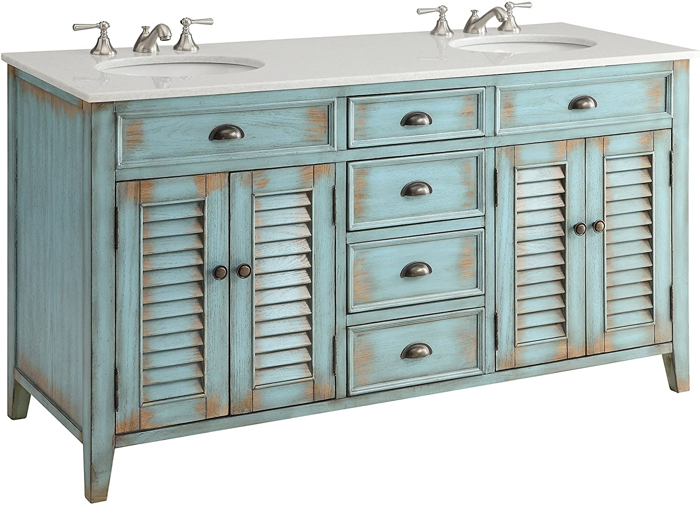 60 Cottage Look Abbeville Bathroom Double Sink Bathroom Vanity