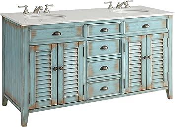 Contemporary Office Interior Design, 60 Cottage Look Abbeville Bathroom Double Sink Bathroom Vanity Cf88323 60bu Sofas Amazon Com