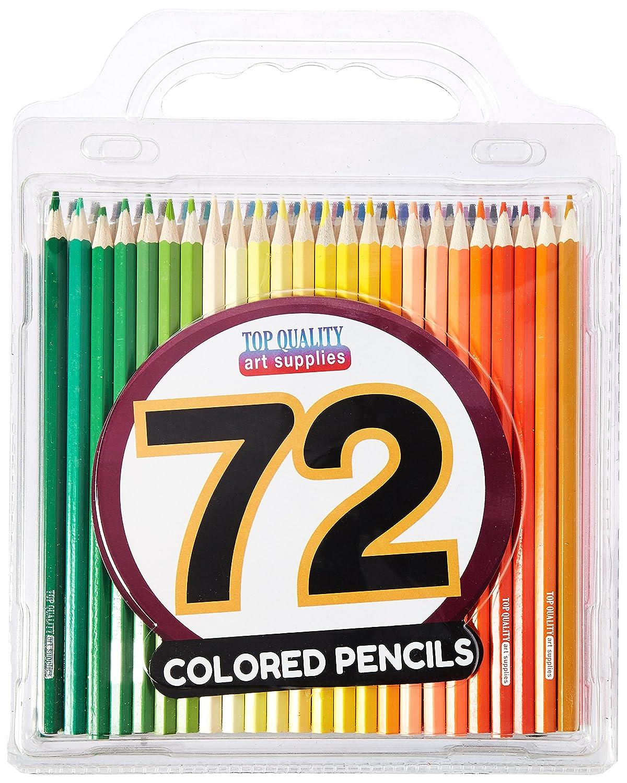 Set 72 Lápices De Colores Con Estuche, Top Quality ( (8w3m)