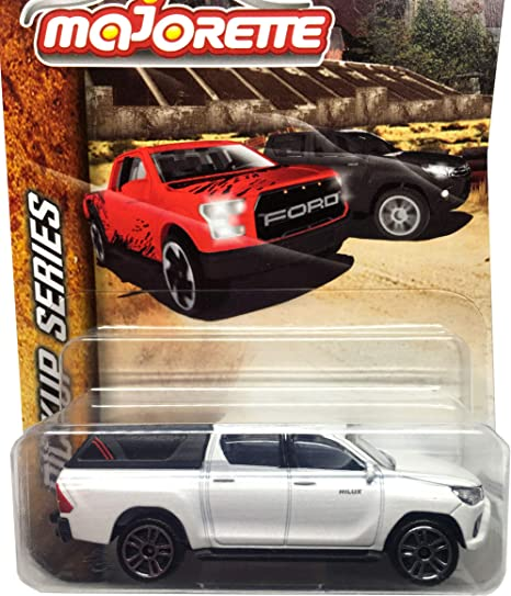 Fonza Toyota Hilux Revo White 1/64 Scale Diecast Car - Scale 1:58 / 3 inches Car - MJ Ref 292K - Wheels D5S - in Long Package Style