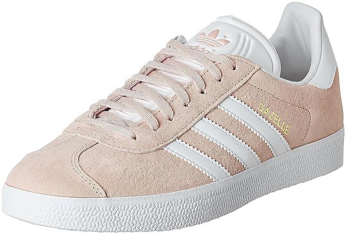 adidas Gazelle, Baskets Basses Femme, Bleu (Collegiate Navy/Footwear White/Gold Metallic), 37 1/3 EU
