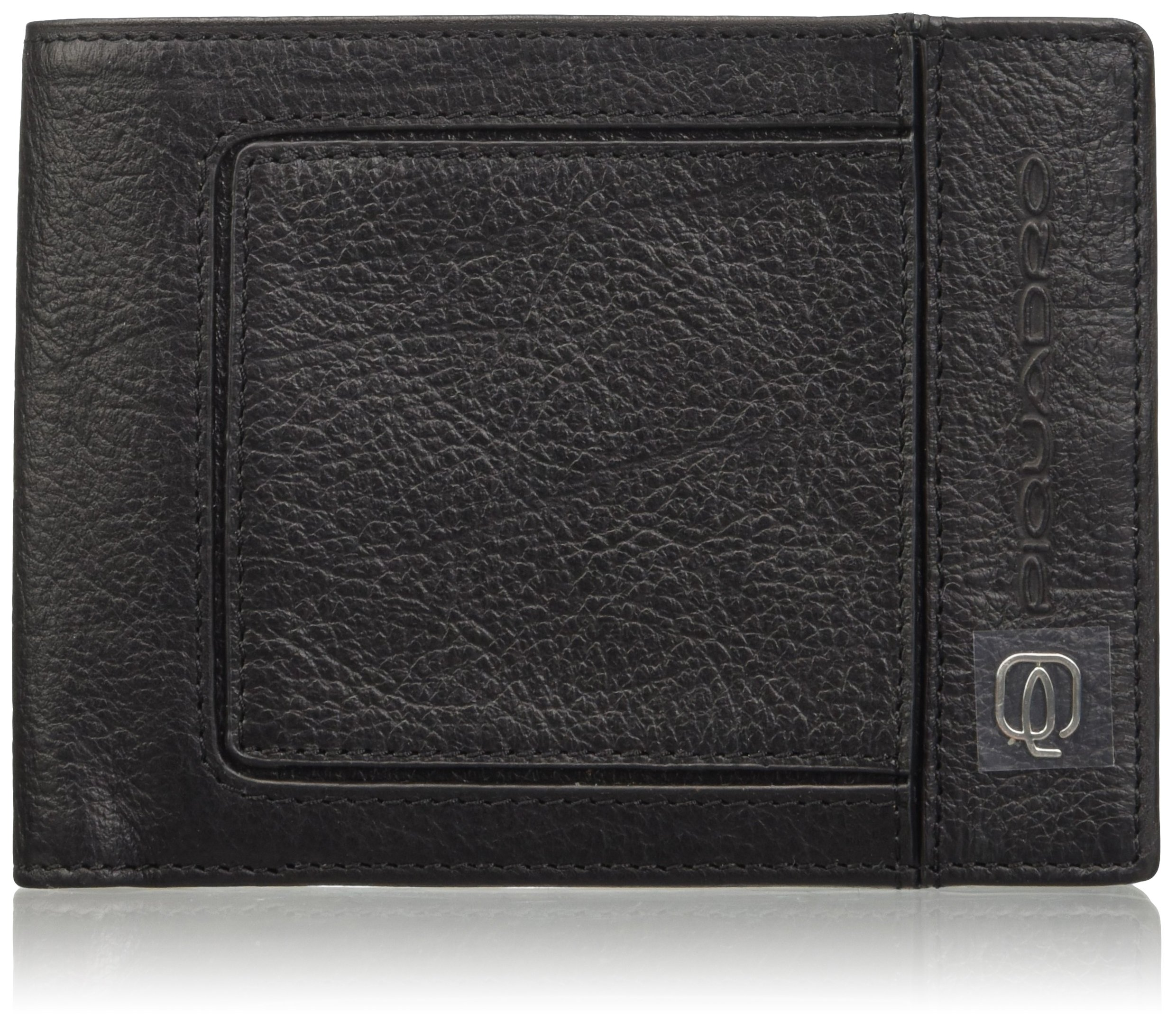 Piquadro Men's Leather Wallet with Coin Pocket and Credit Card Slots, Black, One Size