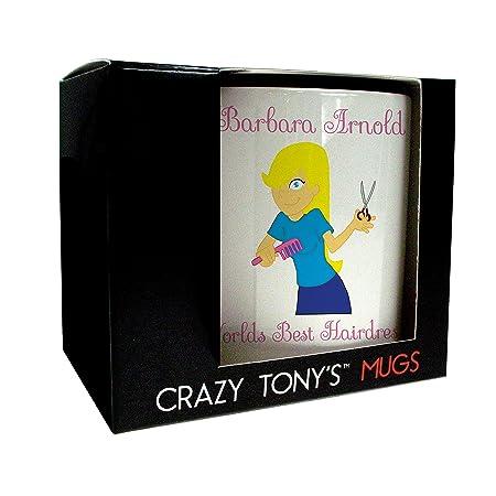 Occupation Gifts, Hairdresser Gifts, Worlds Best Hairdresser Mug, Crazy  Tonyu0027s, Fun Personalised