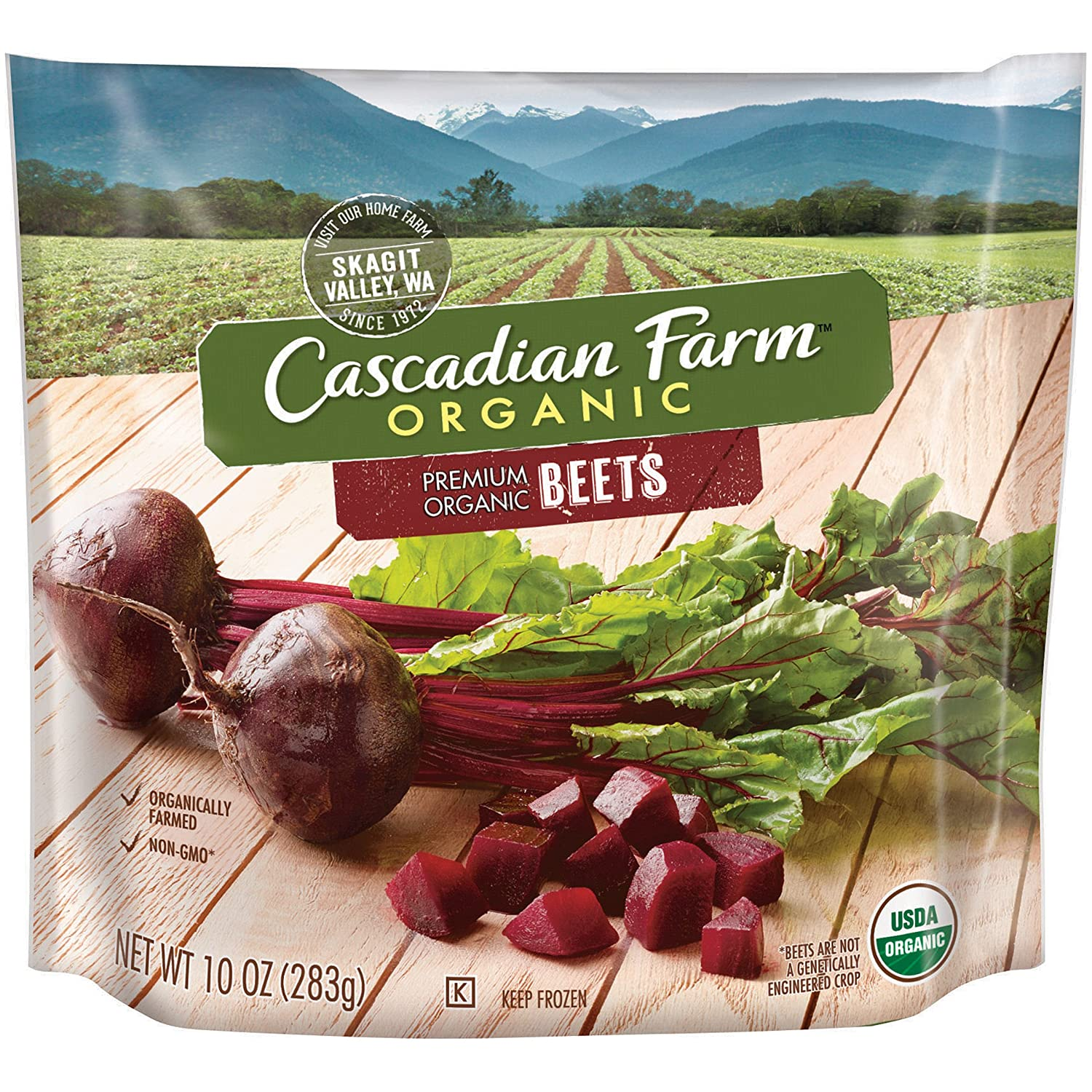 Cascadian Farm Organic Beets, 10oz Bag (Frozen), Organically Farmed Frozen Vegetables, Non-GMO