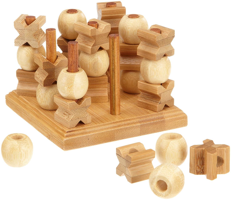 Philos 3266 Green Games - Tic Tac Toe 3-D, gioco di strategia in legno di bambù (lingua tedesca) Philos-Spiele Philos_3266