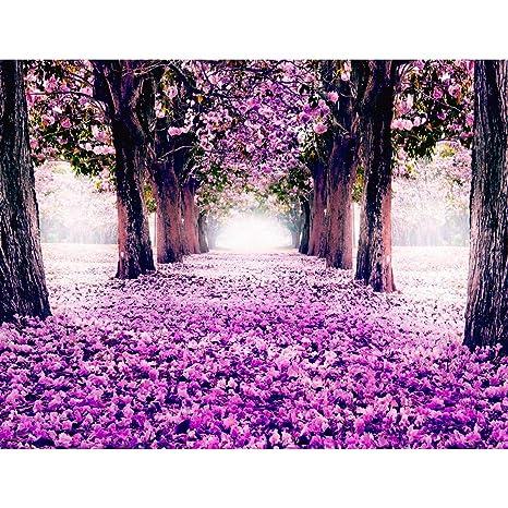 Fototapete Wald Park Vlies Wand Tapete Wohnzimmer Schlafzimmer Büro Flur  Dekoration Wandbilder XXL Moderne Wanddeko - 100% MADE IN GERMANY - Pink ...