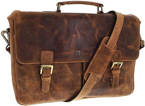 4936162f3 FB Fashion Boots FB Bags 8851 - Bolso al hombro de Piel Lisa para hombre  Marrón rojo Einheitsgröße: Amazon.es: Zapatos y complementos