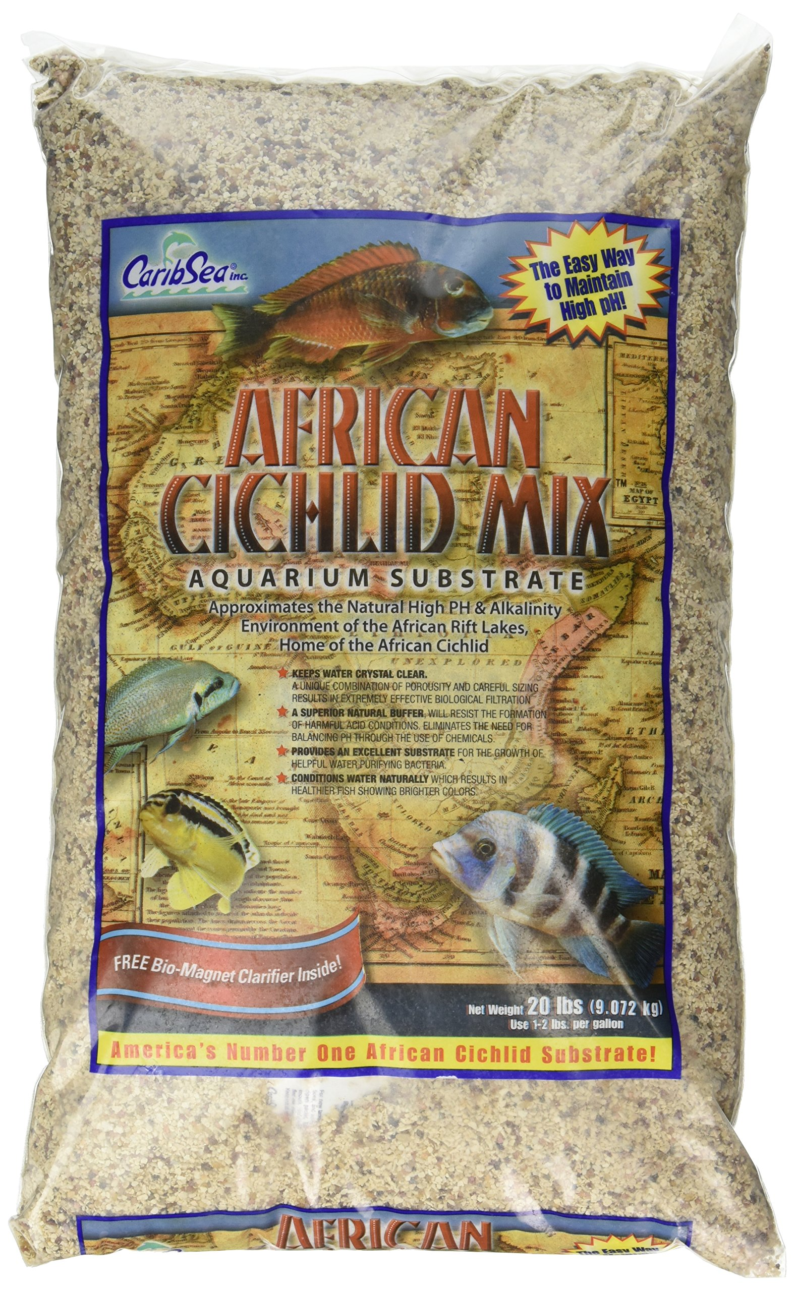 Carib Sea ACS00223 African Ivory Coast Sand for Aquarium, 20-Pound by Carib Sea