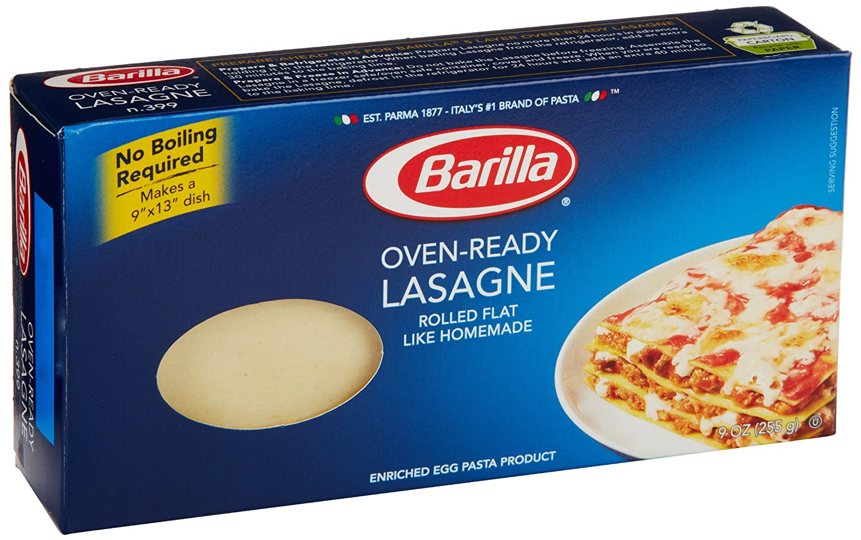 com barilla pasta oven ready lasagne ounce prime pantry