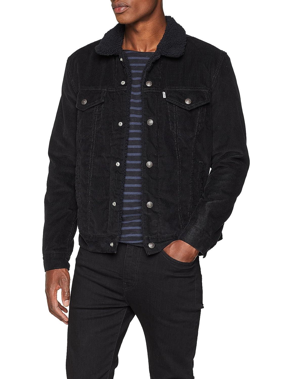 Levi's Men's Type 3 Sherpa Trucker Jacket, Black Levi' s