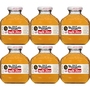 Martinelli's Gold Medal, 100% Apple Juice, 10oz Glass Bottle (Pack of 6, Total of 60 Oz)