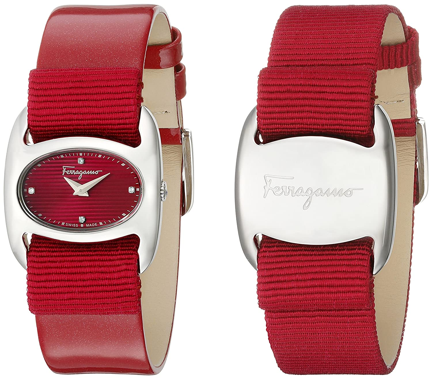 pink women red varina with womens salvatore watches com ferragamo watch band svql amazon interchangeable s dp