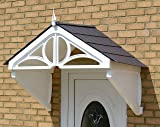 Dorchester Canopy Rain shade Sun Shelter cover front door porch DIY awning (WHITE FRAME (  sc 1 st  Amazon UK : coopers door canopy - memphite.com